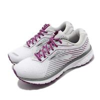 Brooks Ghost 12 D Wide White Purple Women Running Shoes Sneakers 120305 1D