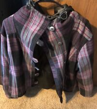 COLUMBIA BLACK RED AND GREY PLAID WINTER COAT SIZE Large