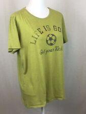 Life is Good Womens XL Green T-Shirt Get Your Kicks Soccer Mom