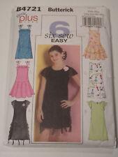 B-B4721 Dress Sewing Pattern Butterick Girl Plus Size 10½-12½-14½-16½ Uncut