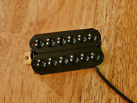 HUMBUCKER NECK PICKUP INVADER STYLE BLACK FOUR CONDUCTOR WIRED