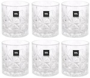 TRIKALA 6pc Whiskey Tumblers Drinking Glasses Gift Boxed Set Wedding Xmas NEW