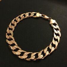 "gcb ROSE GOLD Filled 9"" / 23cm x 1cm UNISEX Bracelet Chain Plum UK BOXED"