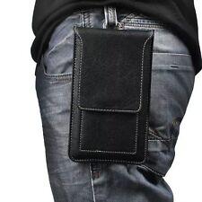 Black Holster Belt Clip Pouch Case for BLU R1 Plus / LG G6 / Google Pixel XL