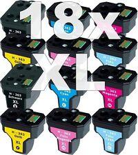18 XXL PATRONEN für HP363 C5180 C6250 C7180 C7280 C8180 3110 3210 3310 8230 8250