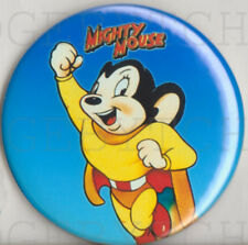 MIGHTY MOUSE ROUND FRIDGE MAGNET -  COOL!