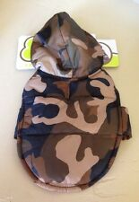 """Camo Dog Jacket with Hood, XXS Girl Or Boy. 6-8 """" Camping Hunting Sweater Puffy"""