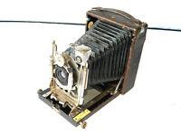 Original LANGER & COMP Folding Plate Camera F=120 Bausch & Lomb Lens 1900s