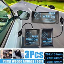 3Pcs Air Pump Wedge inflatable Air Bag Car Door Emergency Entry Open Unlock Too