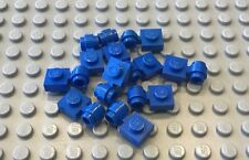 LEGO 10 Blue Plate  MODIFIED 1x1 - Thick Ring 4210 7181 10151 10211 1489 6098