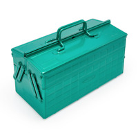 TOYO Steel Two-Stage Tool Box ST-350 Limited Color Green 340 x 160 x 170 mm