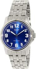 Casio Men's MTP1216A-2B Silver Stainless-Steel Quartz Watch with Blue Dial