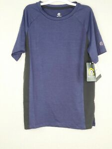 Champion C9 Boys' Purple & Black Cloud Knit Breathable Stretch Athletic Tee New