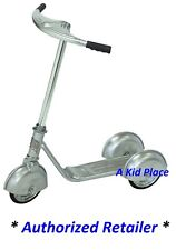 MORGAN CYCLE SILVER STEEL 3 WHEEL SCOOTER VINTAGE RETRO 1930'S STYLE - NEW