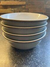More details for 4x denby regency green cereal bowls, 15cm diameter.