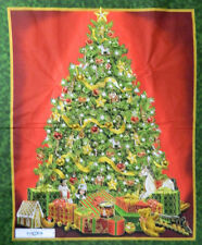 Patchwork Quilting Sewing Fabric CHRISTMAS TREE Sewing Xmas Panel 90x110cm Ne...