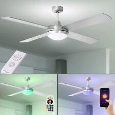 Smart LED De Techo Ventilador Control Remoto Alexa Lámpara Google Temporizador