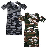 Girls New Camo Cold Shoulder Midi Dress Jolly Rascals 5 6 7 8 9 10 11 12 13 Yrs