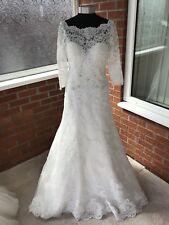 MORI LEE WEDDING DRESS IVORY SIZE UK 14 (ONE ONLY)