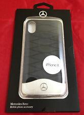 origi Mercedes Benz Rind leder Handy Hülle Huelle Case passend für iPhone ® X 10