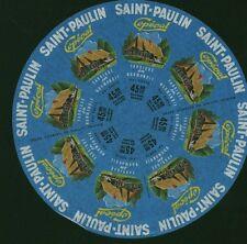 Etiquette de Fromage Saint-Paulin Copéval    No 144