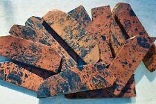 Set of 6 Red Obsidian Rough Slabs Blanks Knapping Knife Arrowhead Obsidian