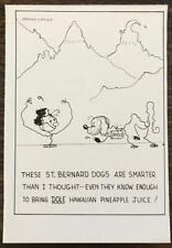1936 Dole Pineapple Ad Hollywood Director Norman Z McLeod St Bernard Cartoon