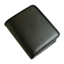 CARFIBE Men's Japan Made Leather Wallet Carbon Fiber Purse Card Coin Case NEW
