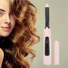 Electric Curling Iron Temperature LCD Display Cordless Hair Curler Styling Kit