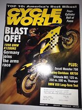 Cycle World Magazine 1998 BMW K1200RS Ducati Monster August 1997 042017nonrh