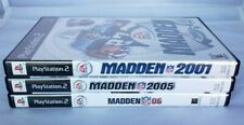 New ListingSony PlayStation Ps2 Madden Nfl Football Video Games 2001 2005 & 2006 Lot of 3