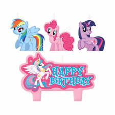 MY LITTLE PONY CANDLES SET HAPPY BIRTHDAY 4PK PARTY SUPPLIES CAKE TOPPER DECOR
