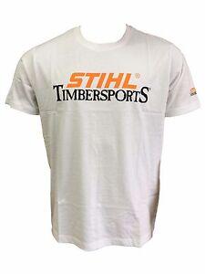 Stihl T-Shirt Timbersports weiß neue Kollektion 100% Baumwolle alle Größen