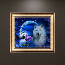 White Wolf 5d Diamond DIY Rhinestone Painting Craft Home Cross Stitch Craft