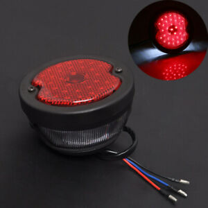 Motorcycle Retro LED Rear Tail Brake Stop Light Round Lamp For Harley Chopper