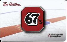 *NEW* 2017 Ottawa 67,s-Tim Hortons Tim Card Gift Card-OHL TEAM-FD #  FD57545