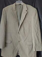 Andrew Fezza  Mens 48L  Beige Two 2 Button Silk Blazer Sports Coat Jacket 1 Vent