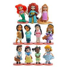 11PCS Disney Princess Mixed Cinderella Snow White Ariel Figures Toy Cake Topper
