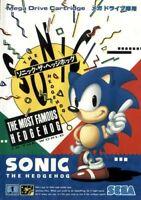 SONIC THE HEDGEHOG 1 Mega Drive SEGA Video Game Japan Japanese