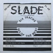"""Slade Six of the Best 12"""" EP VG/VG++ 1980 UK Night Starvation"""