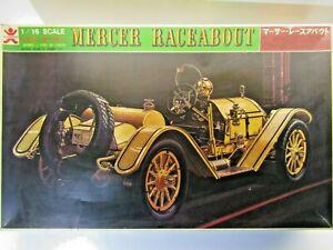 Bandai Vintage 1:16 Scale 1912 Mercer Raceabout Model Kit Motorized - New #38038