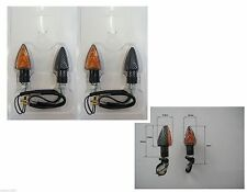 4 Blinker Lampe Kohlenstoff Kurz genehmigt für Honda hornet 600 - hornet 600 s