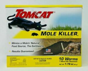 Tomcat Mole Killer(a) - Worm Bait - Includes 10 Worms per Box