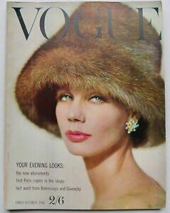 1960 vintage Vogue fashion magazine Balenciaga Givenchy Duffy Grace Coddington