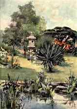 A4 Photo Wyatt Katharine Montagu A Book of English Gardens 1906 The Japanese Gar