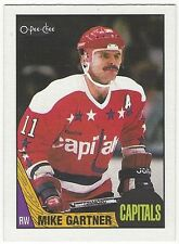 1987-88 OPC HOCKEY #168 MIKE GARTNER - NEAR MINT
