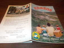 1963/64 Kansas State-issued Vintage Road Map