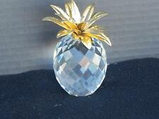 Swaroski Pineapple Gold Hammered Leaves 4 inches tall