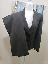 EVAN PICONE Woman 2PC Elegant Green Red Pinstripe Pant Suit Size 10