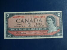 1954 Canada 2 Dollar Bank Note-Replacement*AB0058827-Fine-19-321